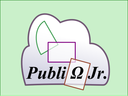 logo: white cloud on green, with the word Publizjr